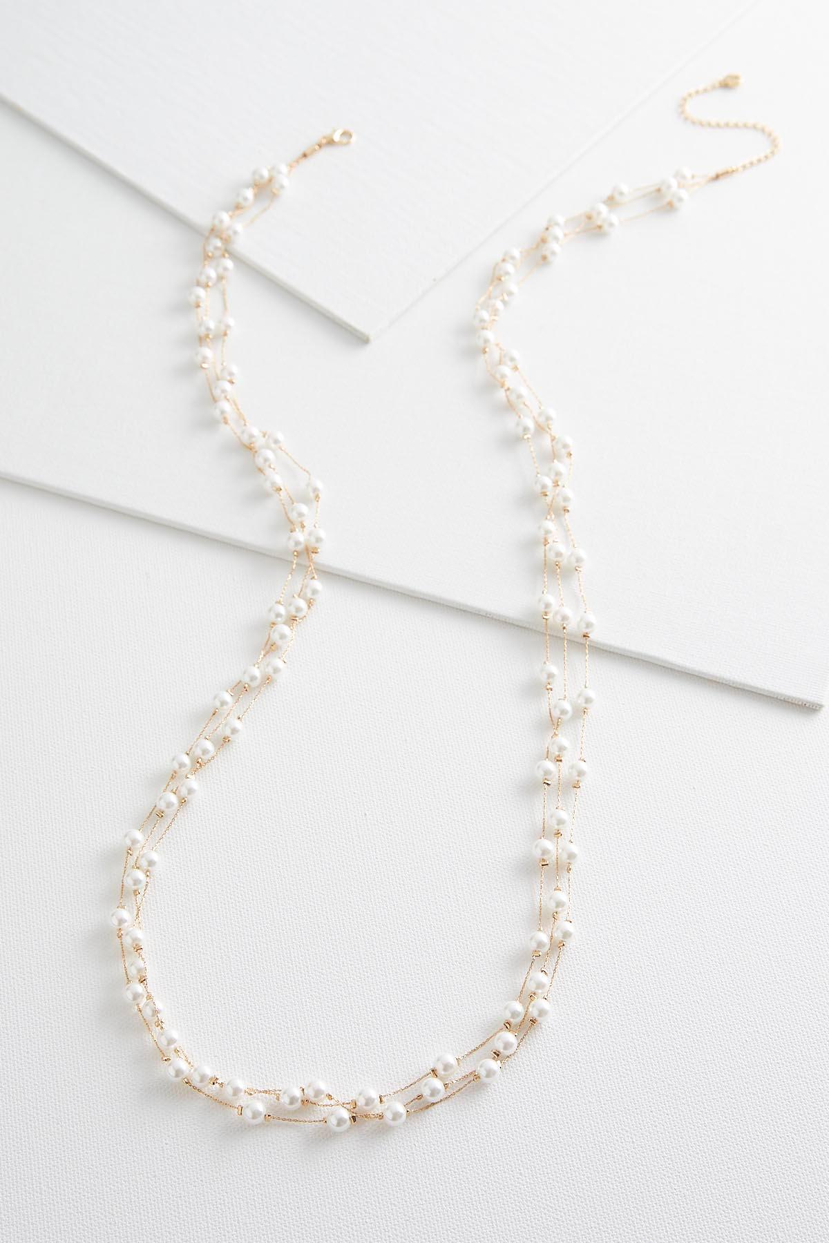Pearl Station Layered Necklace