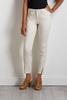 Ivory Slit Hem Skinny Jeans