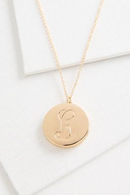 l monogram locket pendant necklace