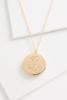 L Monogram Locket Pendant Necklace