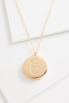 c monogram locket pendant necklace