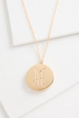 m monogram locket pendant necklace