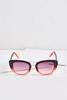 Gradient Pink Cat Eye Sunglasses
