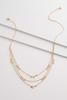 Dainty Layered Disk Necklace