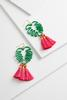 Palm Tassel Earrings
