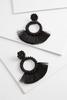 Crystal Circle Fringe Earrings
