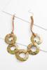 Speckled Disk Necklace