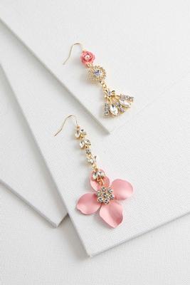 mix match flower earrings