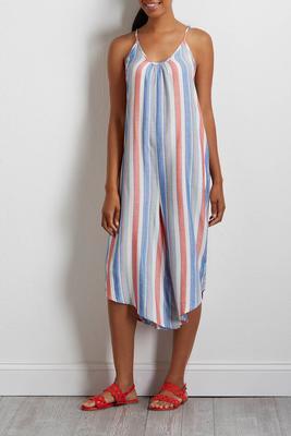 cropped multi stripe genie jumpsuit