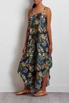 tropical palm genie jumpsuit