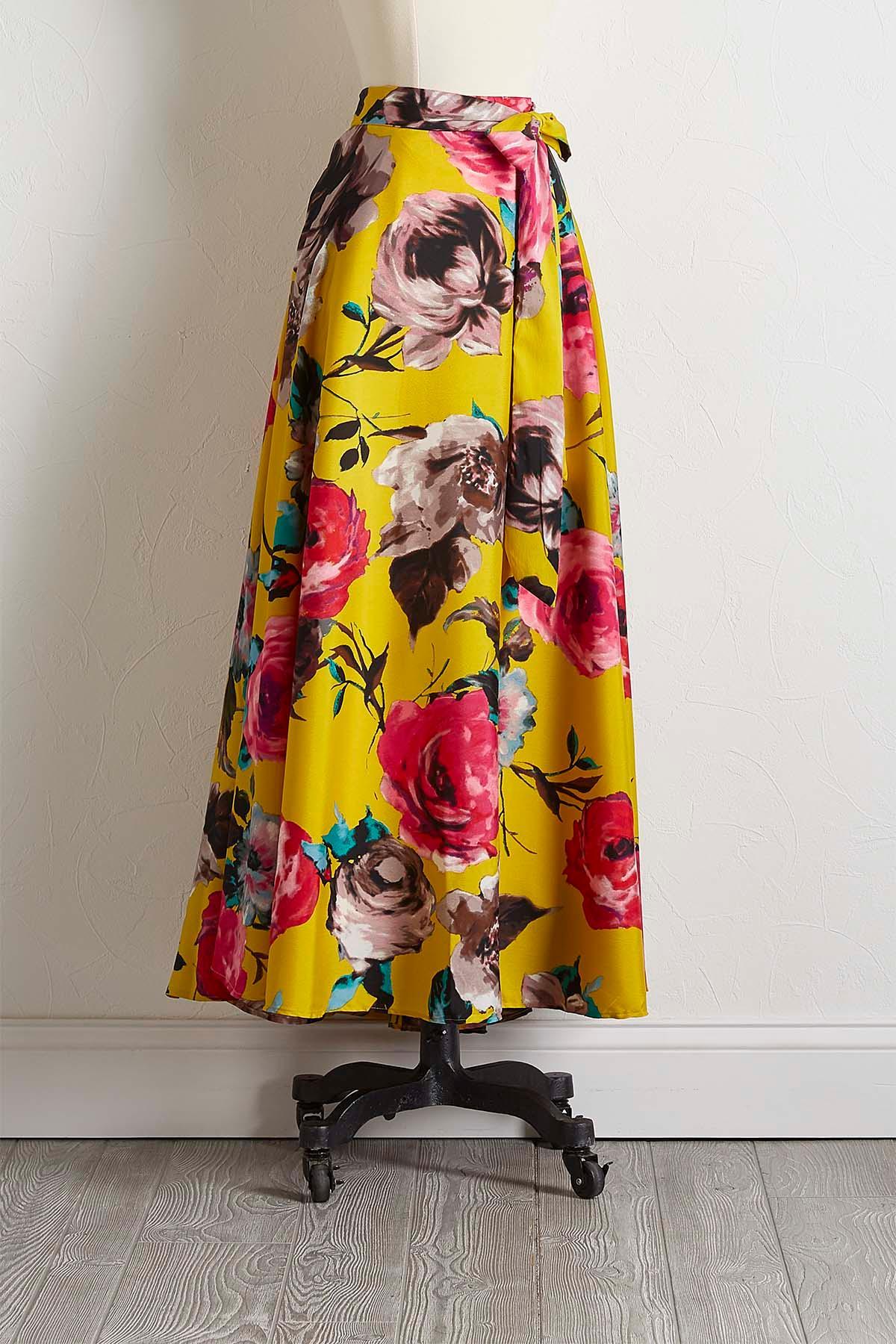 Gold Blossom Maxi Skirt