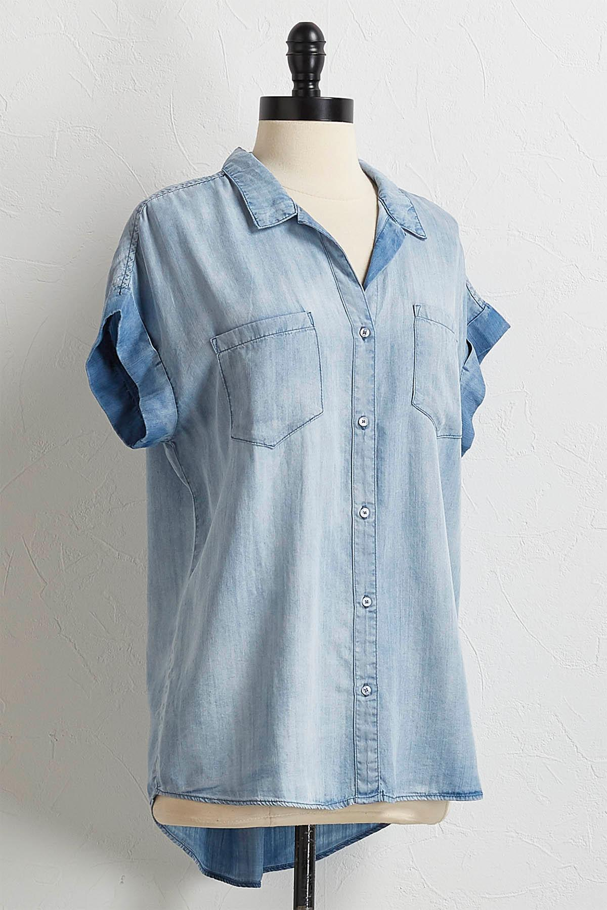 Chambray Button Down Tunic
