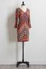 Mirrored Floral Medallion Shift Dress
