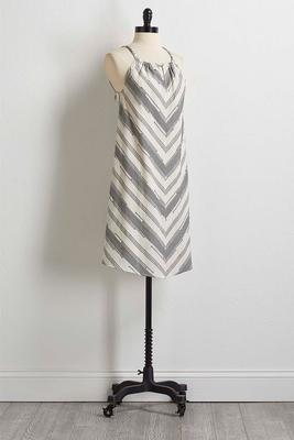 mitered stripe dress