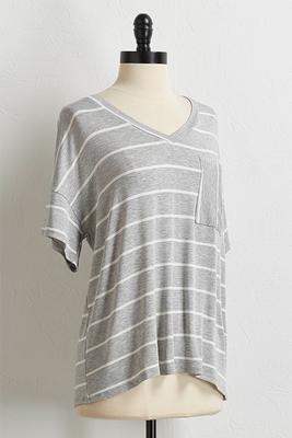 pocket front stripe tee