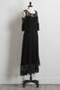Crochet Inset High- Low Maxi Dress