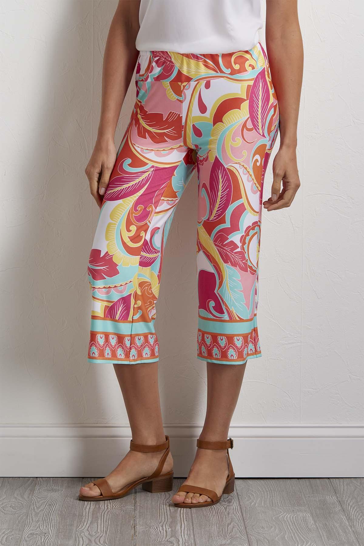 Cropped Pop Floral Pants