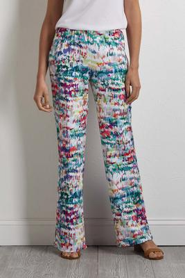 rainbow mosaic palazzo pants