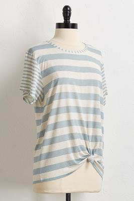 mix stripe tee