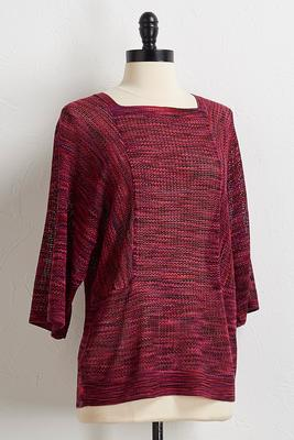 fuchsia space dye sweater
