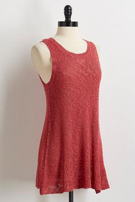 slub knit sweater tank