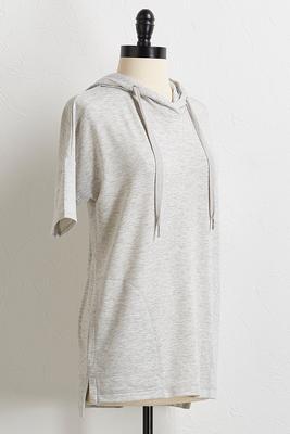drawstring hoodie tunic