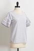 Stripe Tiered Sleeve Tee