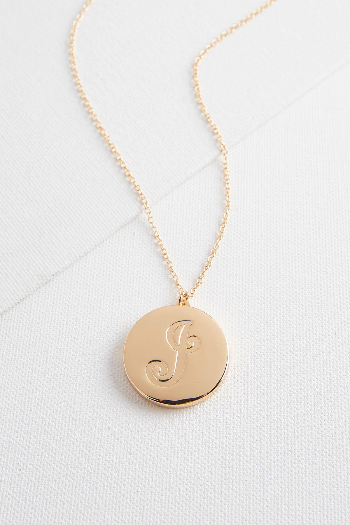 J Monogram Locket Pendant Necklace
