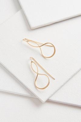 twisted metal threader earrings