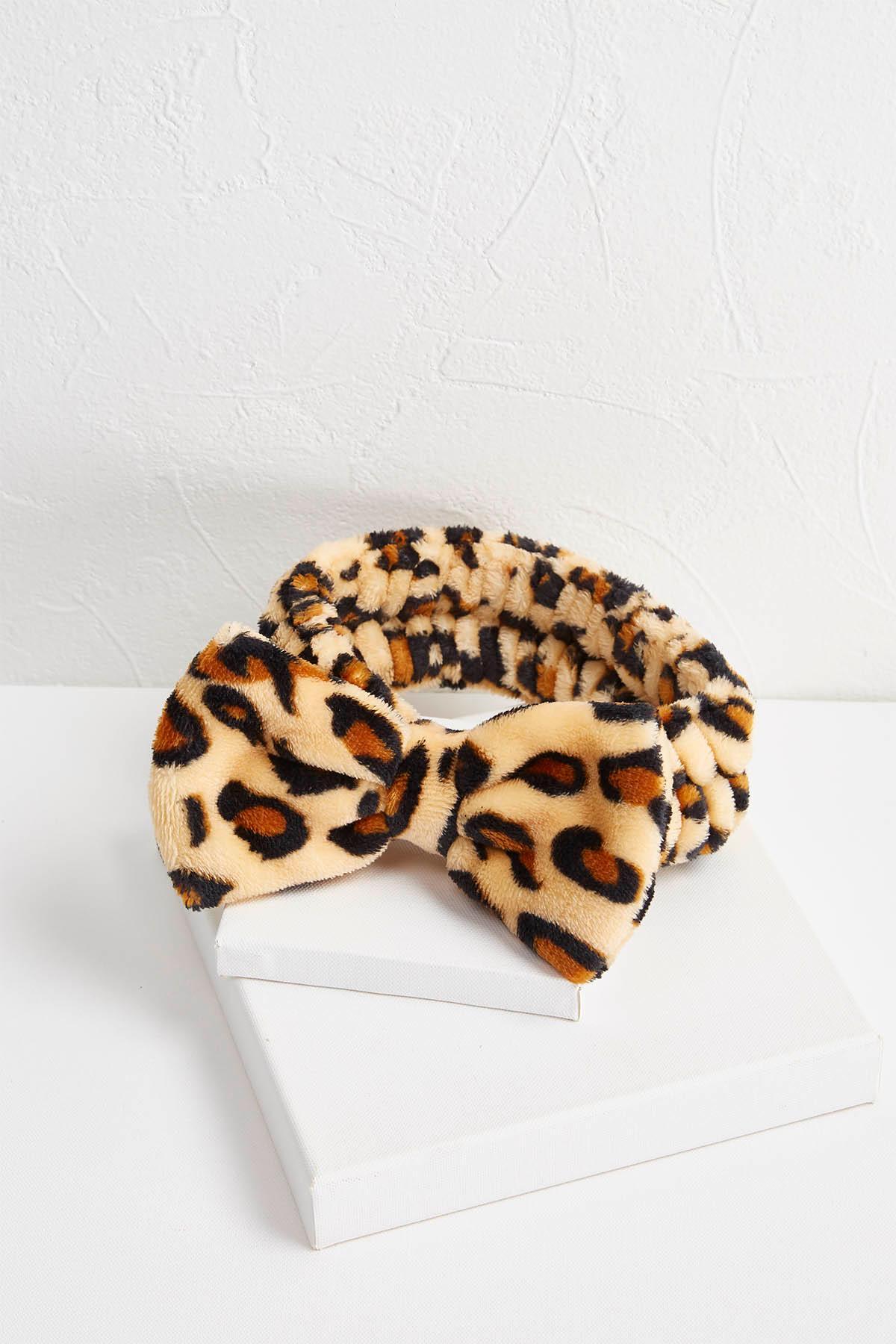 leopard spa headband s