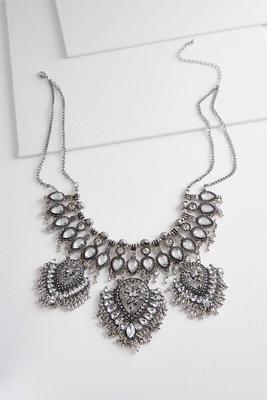 metal tribal bib necklace