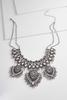 Metal Tribal Bib Necklace