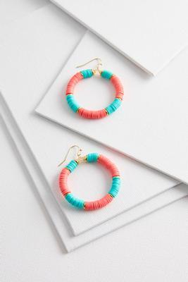 rubber beaded hoop earrings