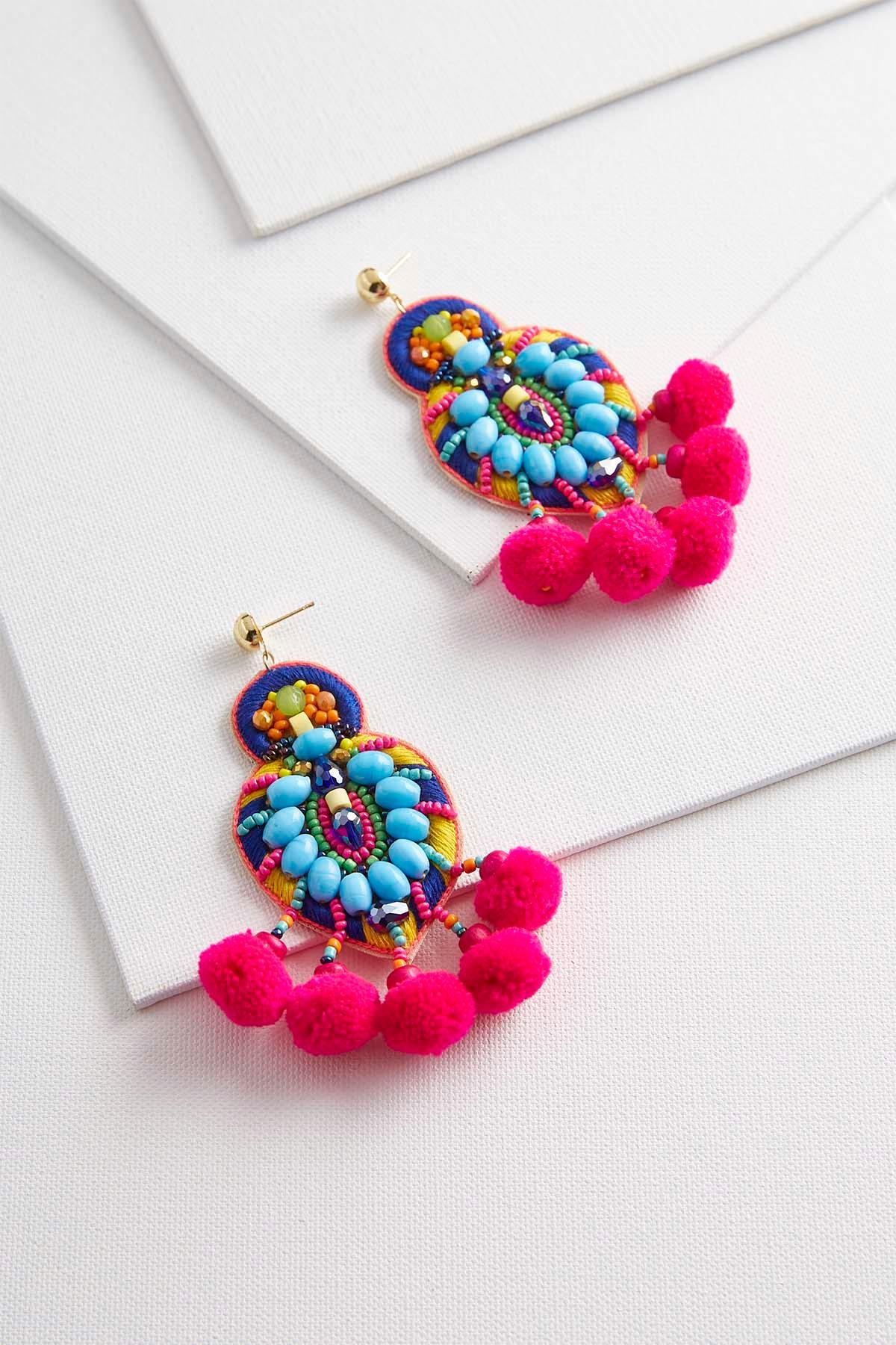 Noteworthy Neon Statement Earrings