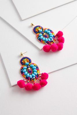 noteworthy neon statement earrings