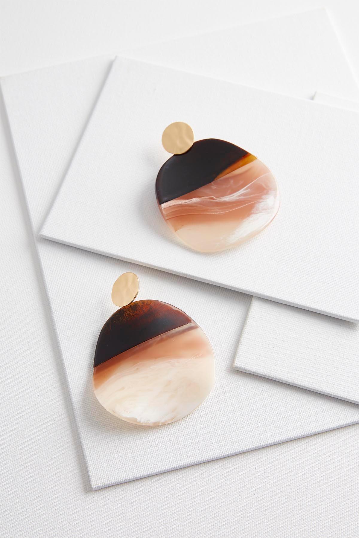 Marbled Tortoise Shell Earrings