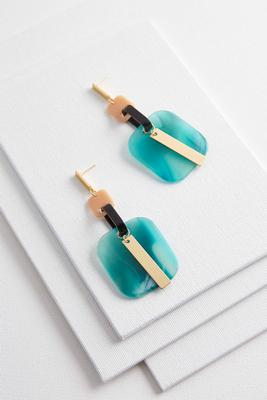 dangling square lucite earrings