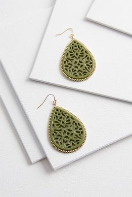 floral enamel cutout earrings
