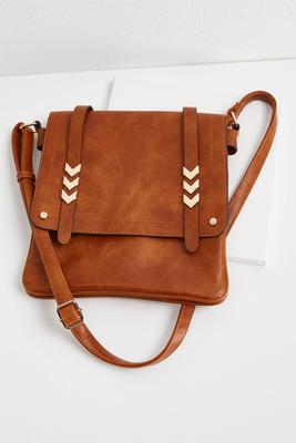 faux leather foldover crossbody