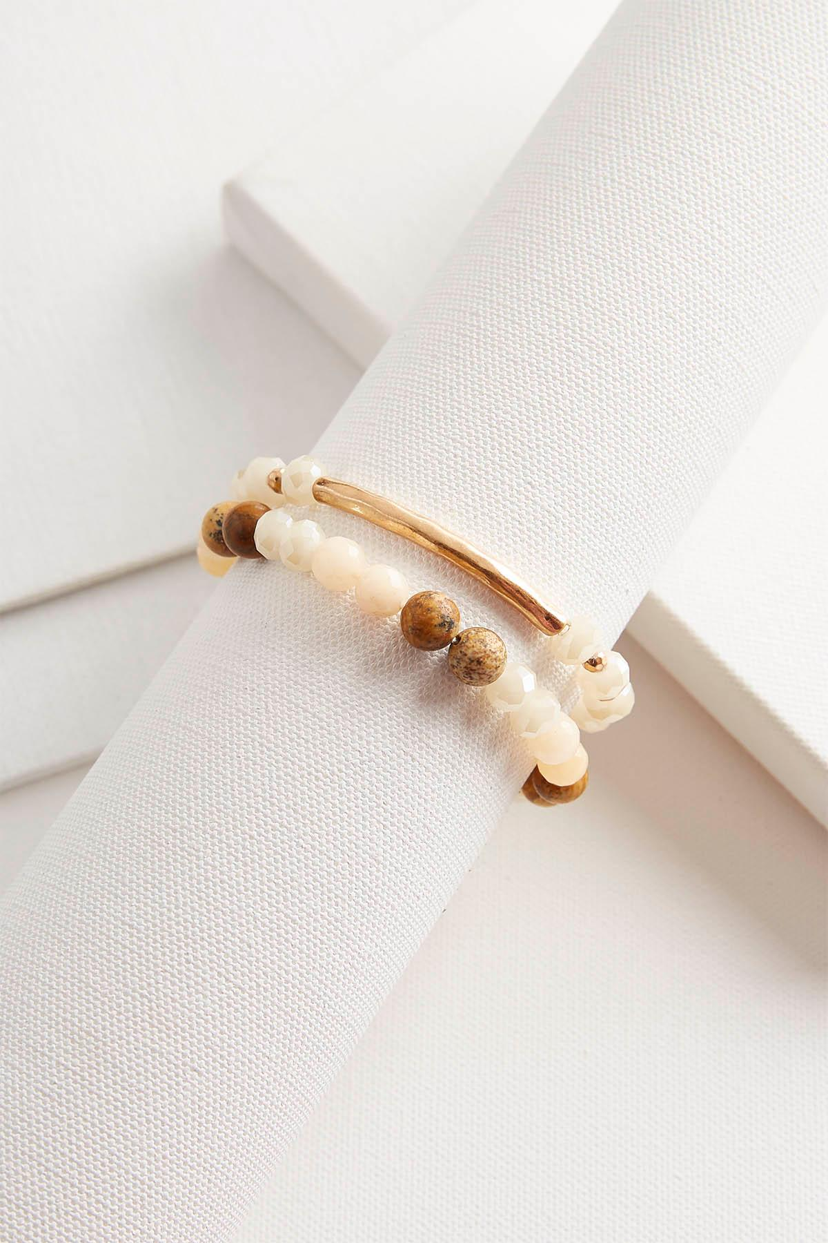 Bead And Bar Bracelet Set