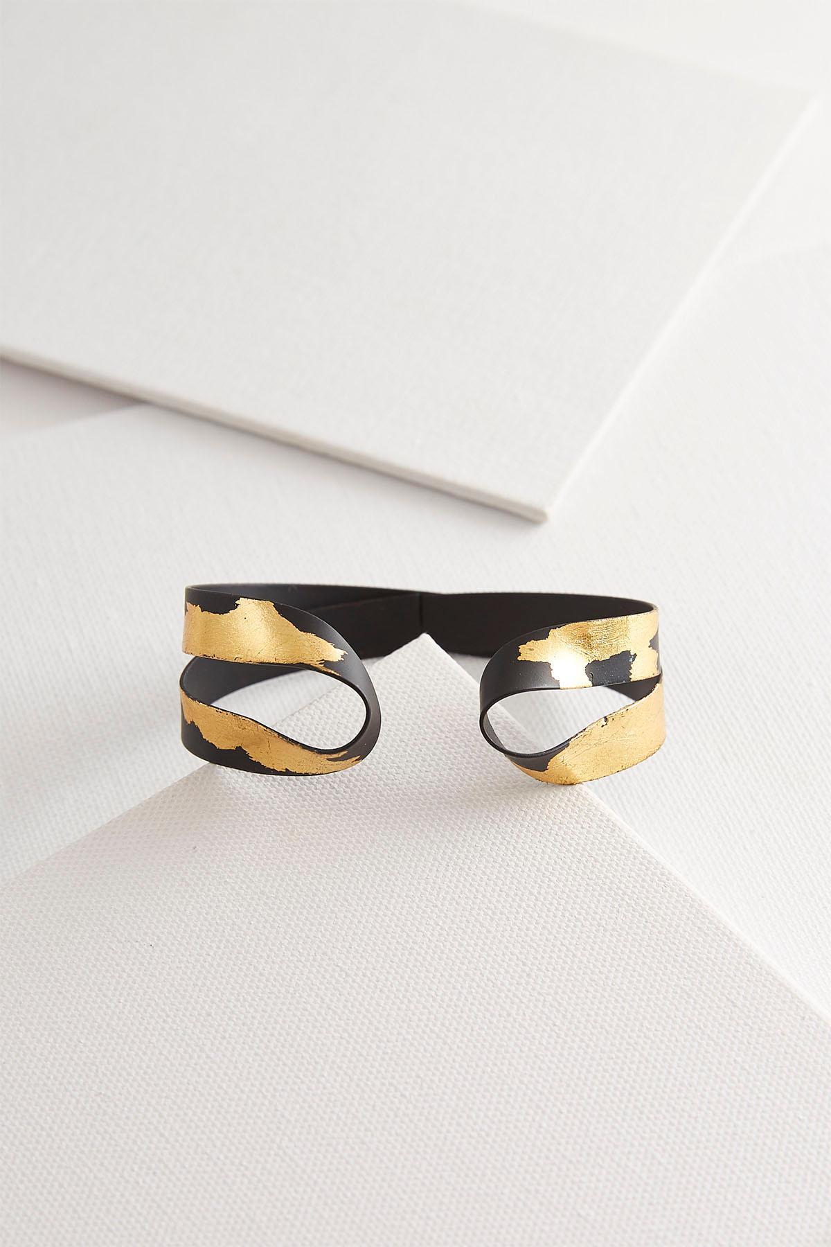 Splashed Gold Black Cuff