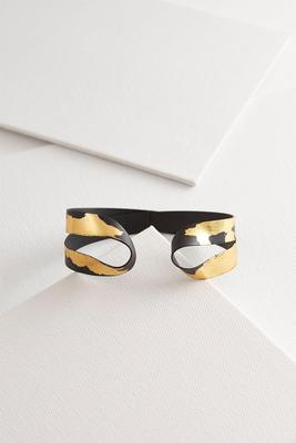 splashed gold black cuff s