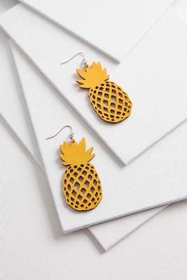cutout pineapple earrings