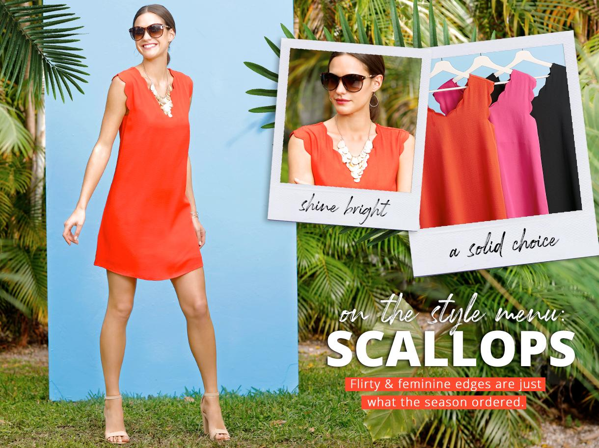 On the Style Menu: Scallops collection