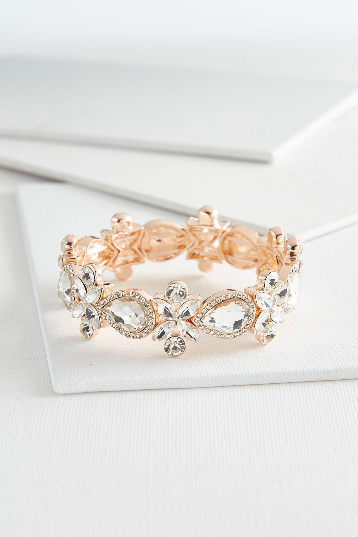 Mixed Rhinestone Stretch Bracelet