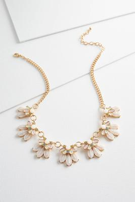 jeweled resin bib necklace