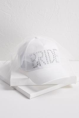 bride veil baseball hat