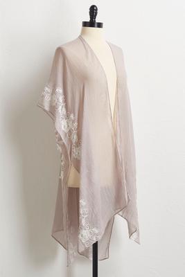 pearl embellished kimono