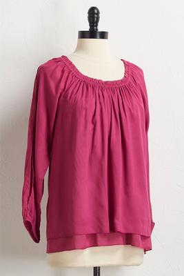 layered split sleeve top