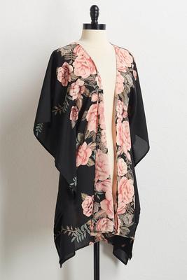rose floral kimono